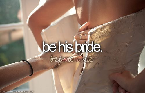 be his bride