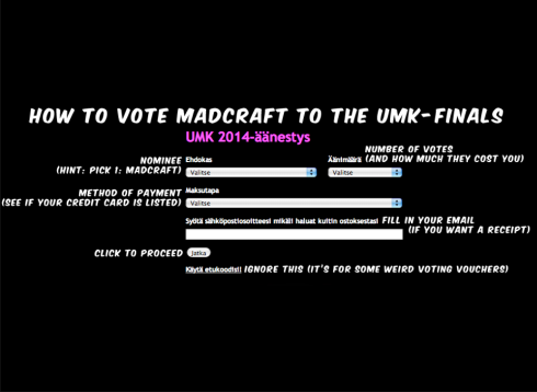 Voting for Madcraft